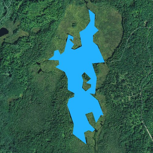 Fly fishing map for Aurora Lake, Wisconsin