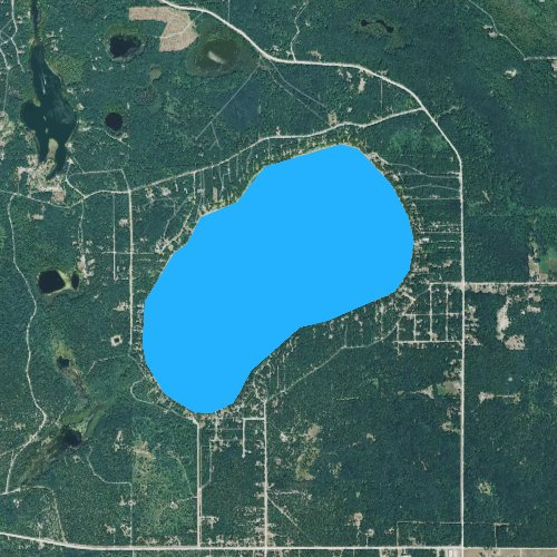 Fly fishing map for Avalon Lake, Michigan
