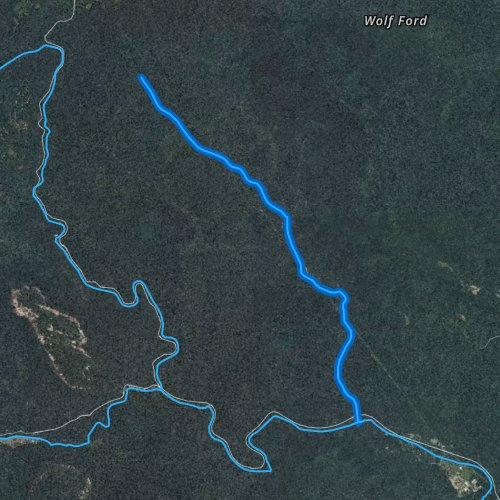 Fly fishing map for Avery Creek, North Carolina