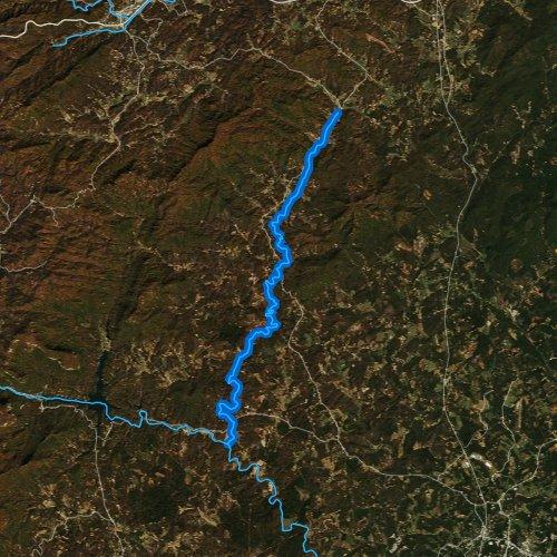 Fly fishing map for BIg Cove Creek, North Carolina
