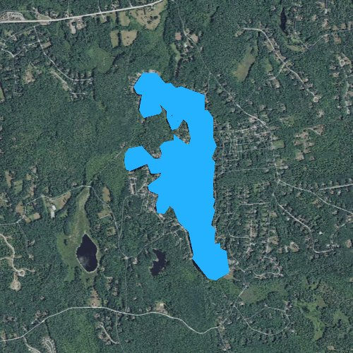 Fly fishing map for Baboosic Lake, New Hampshire