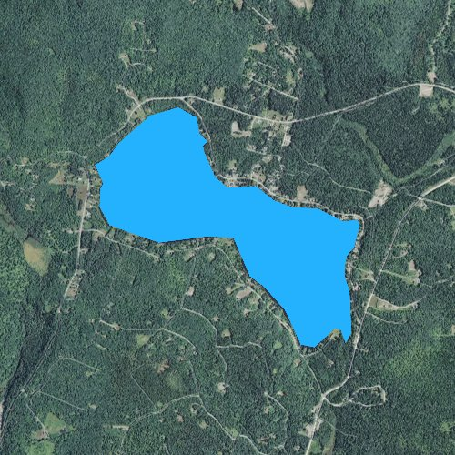 Fly fishing map for Back Lake, New Hampshire