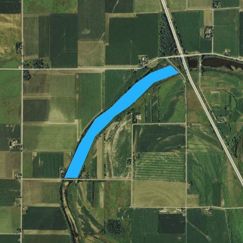 Fly fishing map for Badger Lake, Iowa