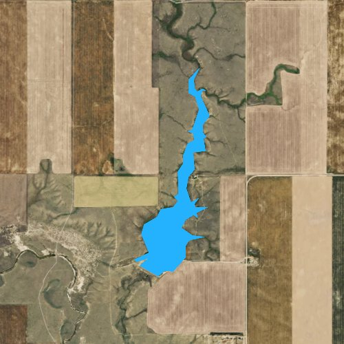 Fly fishing map for Bailey Reservoir, Montana