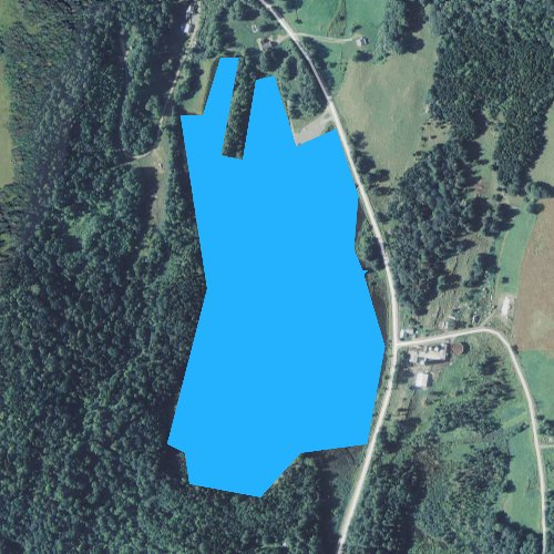 Fly fishing map for Baker Pond, Vermont