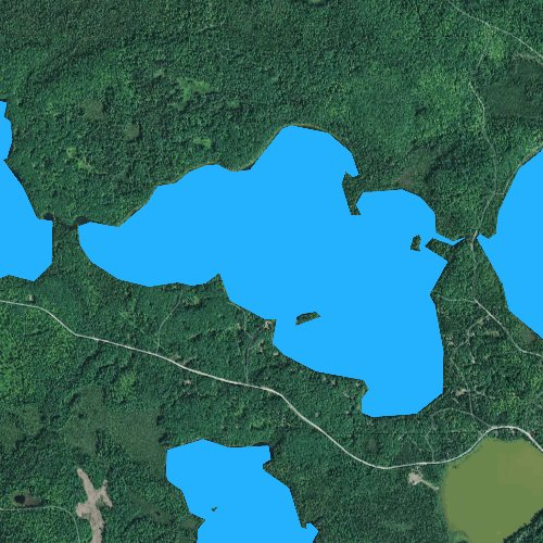 Fly fishing map for Ballard Lake, Wisconsin