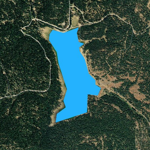 Fly fishing map for Balm Creek Reservoir, Oregon