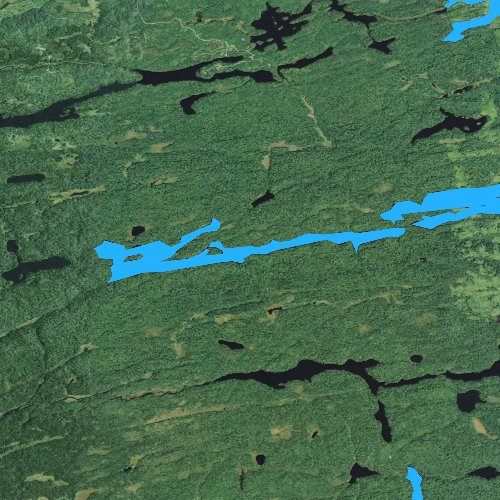 Fly fishing map for Banadad Lake, Minnesota