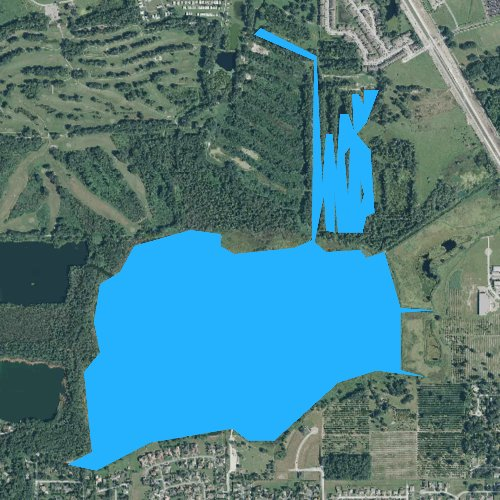 Fly fishing map for Banana Lake, Florida