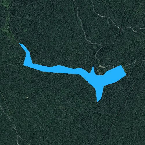 Fly fishing map for Bark Camp Lake, Virginia