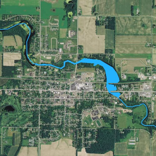 Fly fishing map for Barron Flowage Number One 142, Wisconsin