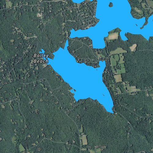 Fly fishing map for Bashan Lake, Connecticut
