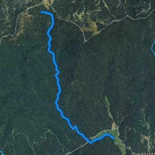 Fly fishing map for Basin Creek, North Carolina