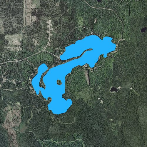 Fly fishing map for Bass Lake: Marquette, Michigan