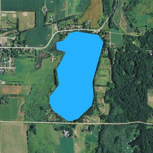 Fly fishing map for Bass Lake, Minnesota