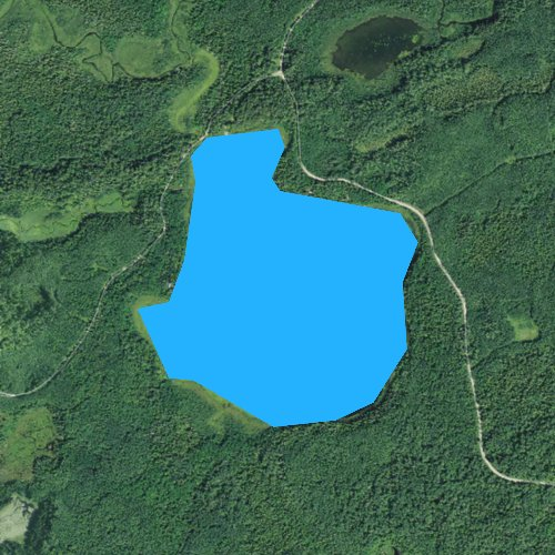 Fly fishing map for Batson Lake, Minnesota
