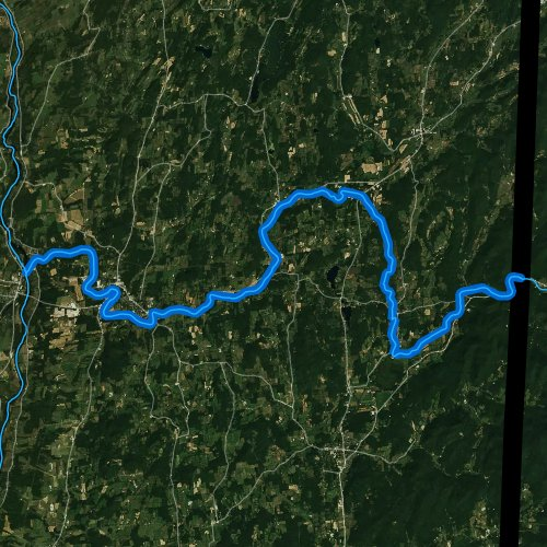 Fly fishing map for Batten Kill, New York
