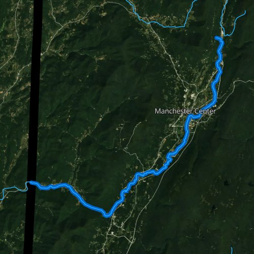 Fly fishing map for Batten Kill, Vermont