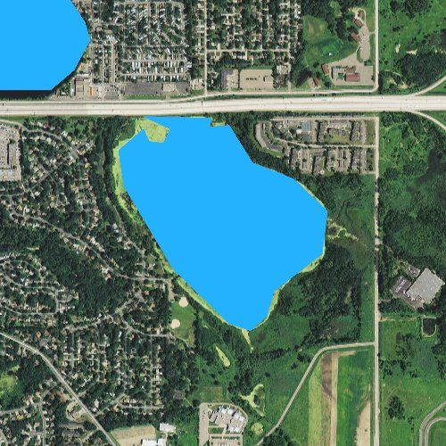 Fly fishing map for Battle Creek Lake, Minnesota