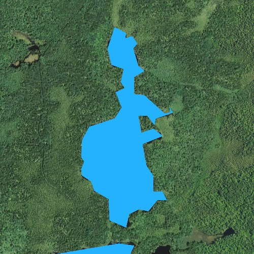 Fly fishing map for Battle Lake, Minnesota
