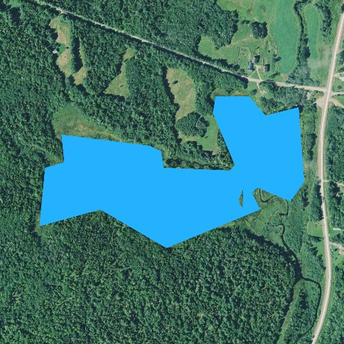 Fly fishing map for Bauds Pond, Maine