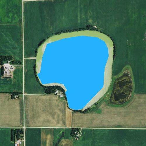 Fly fishing map for Bean Lake, Minnesota