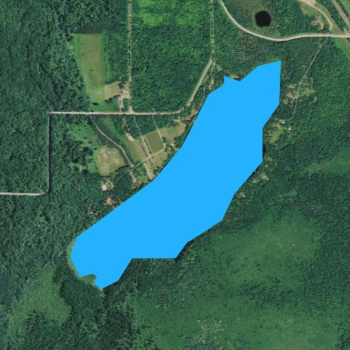 Fly fishing map for Bean Lake, Wisconsin