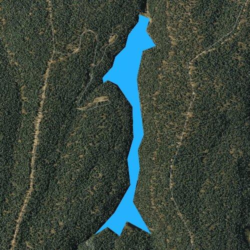 Fly fishing map for Bear Canyon Lake, Arizona