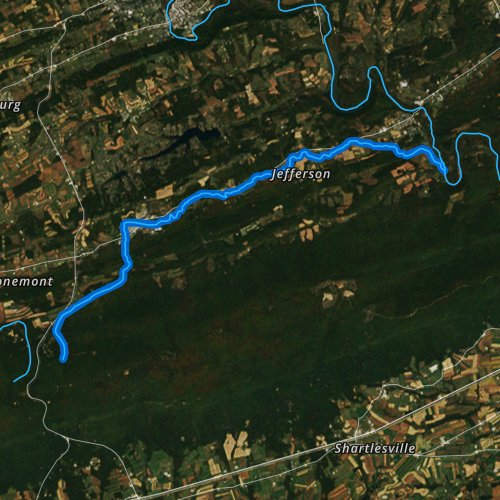 Fly fishing map for Bear Creek, Pennsylvania