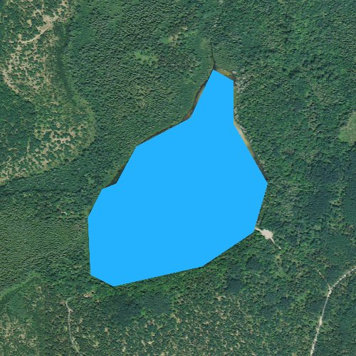 Fly fishing map for Bear Den Lake, Michigan