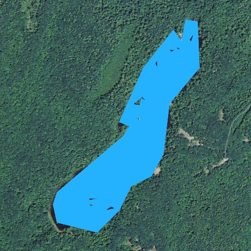 Fly fishing map for Bear Hill Pond, New Hampshire