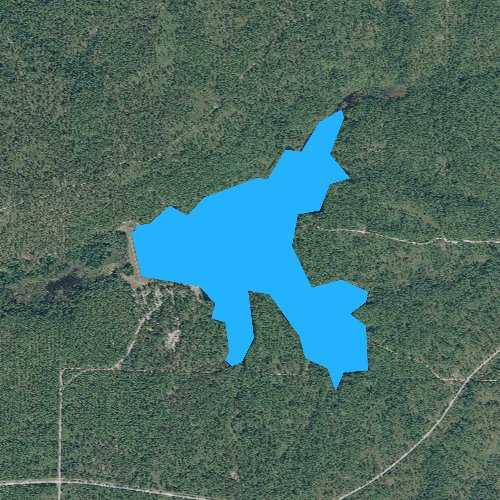 Fly fishing map for Bear Lake, Florida