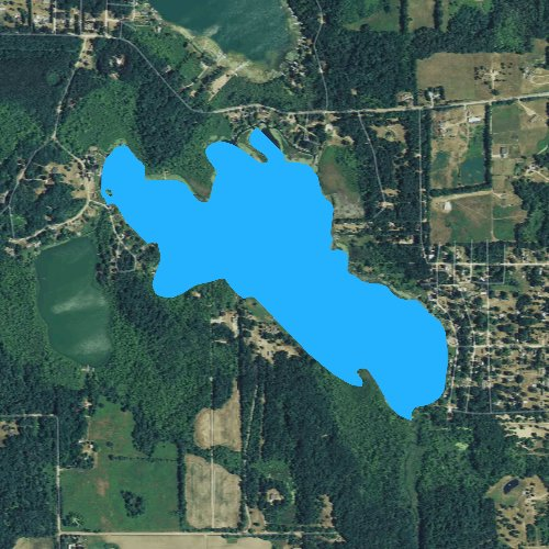 Fly fishing map for Bear Lake: Hillsdale, Michigan