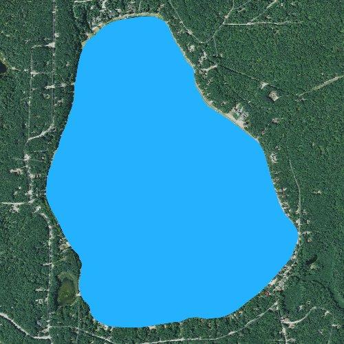 Fly fishing map for Bear Lake: Kalkaska, Michigan