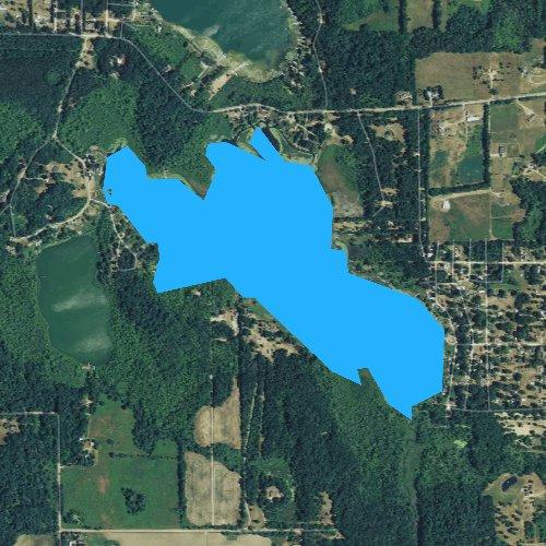 Fly fishing map for Bear Lake, Michigan