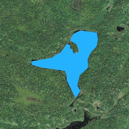 Fly fishing map for Bear Lake, Minnesota