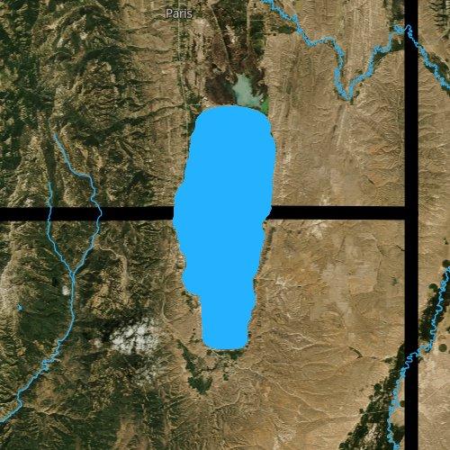 Fly fishing map for Bear Lake, Utah