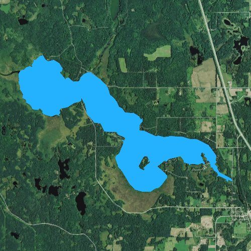 Fly fishing map for Bear Lake, Wisconsin