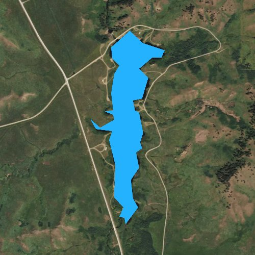 Fly fishing map for Bearpaw Lake, Montana