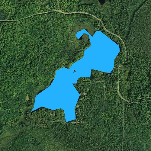 Fly fishing map for Bearskull Lake, Wisconsin