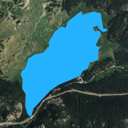 Fly fishing map for Beartooth Lake, Wyoming
