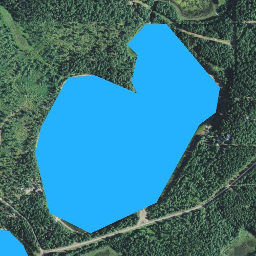 Fly fishing map for Beartrack Lake, Wisconsin