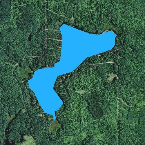 Fly fishing map for Beauregard Lake, Wisconsin