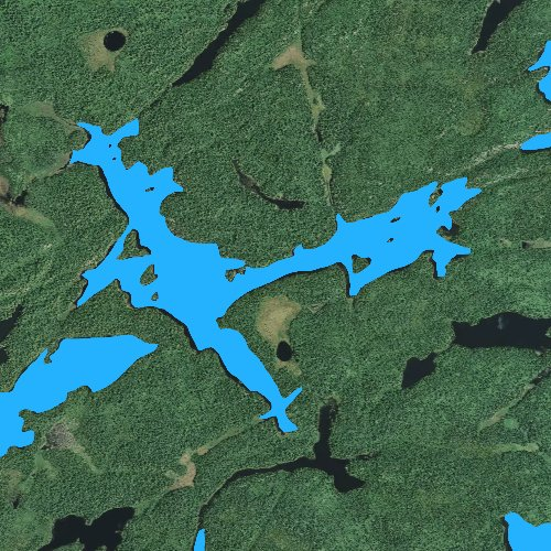 Fly fishing map for Beaver Lake: Lake, Minnesota