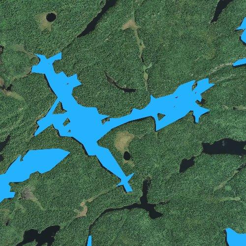 Fly fishing map for Beaver Lake, Minnesota