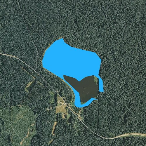 Fly fishing map for Beaver Lake, Mississippi