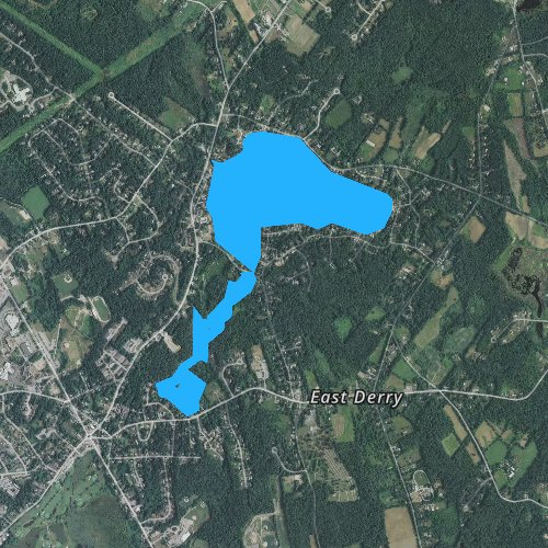 Fly fishing map for Beaver Lake, New Hampshire