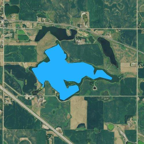Fly fishing map for Beaver Lake, South Dakota