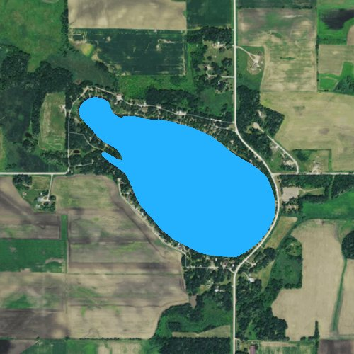 Fly fishing map for Beaver Lake: Steele, Minnesota