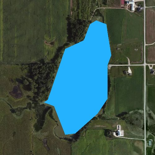 Fly fishing map for Becker Lake, Wisconsin